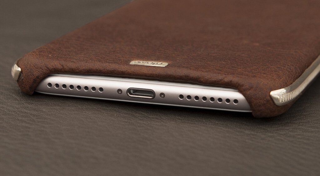 apple iphone 8 plus leather case