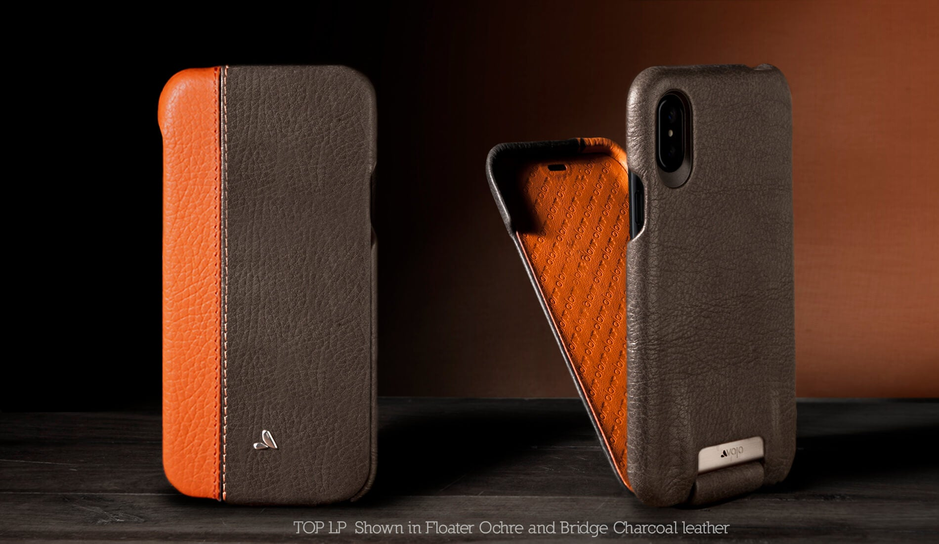 Customizable Top LP for iPhone X Leather Case