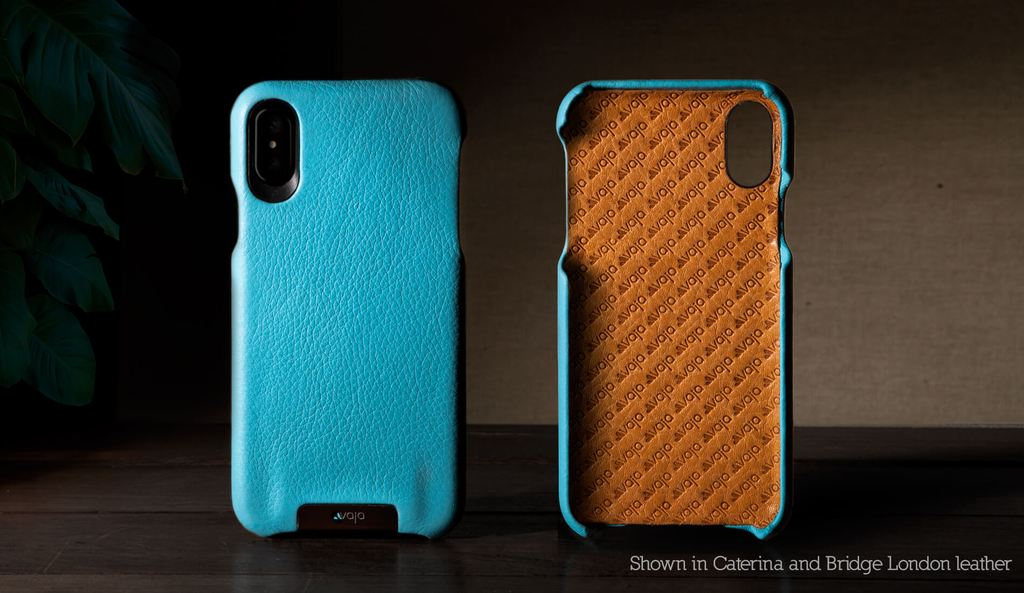 Customizable Grip for iPhone X Leather Case