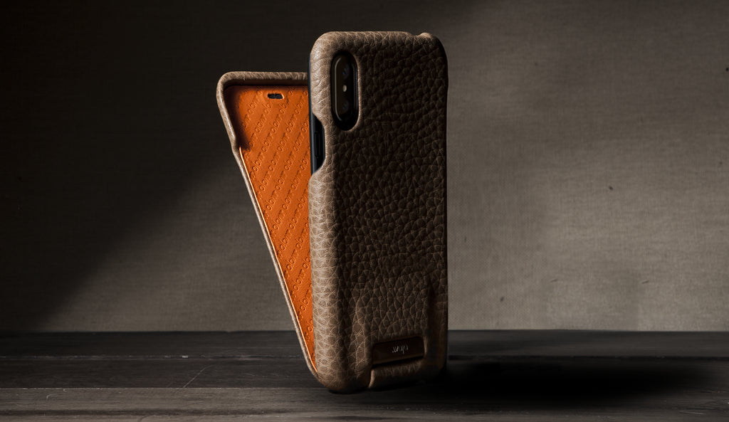 Customizable Top for iPhone X Leather Cases