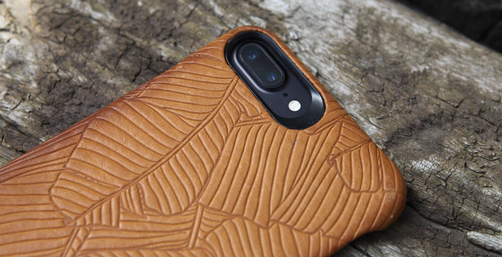 grip embossed iphone 7 leather case