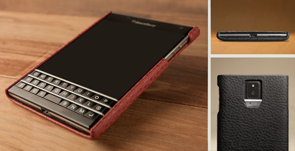 Premium Blackberry Passport Leather Case