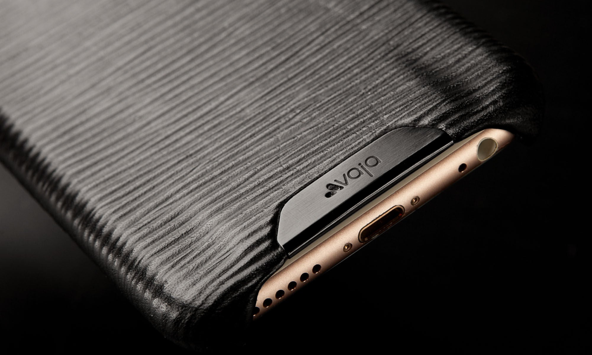 iPhone 6/6s Grip Legno Nero Premium Leather Case