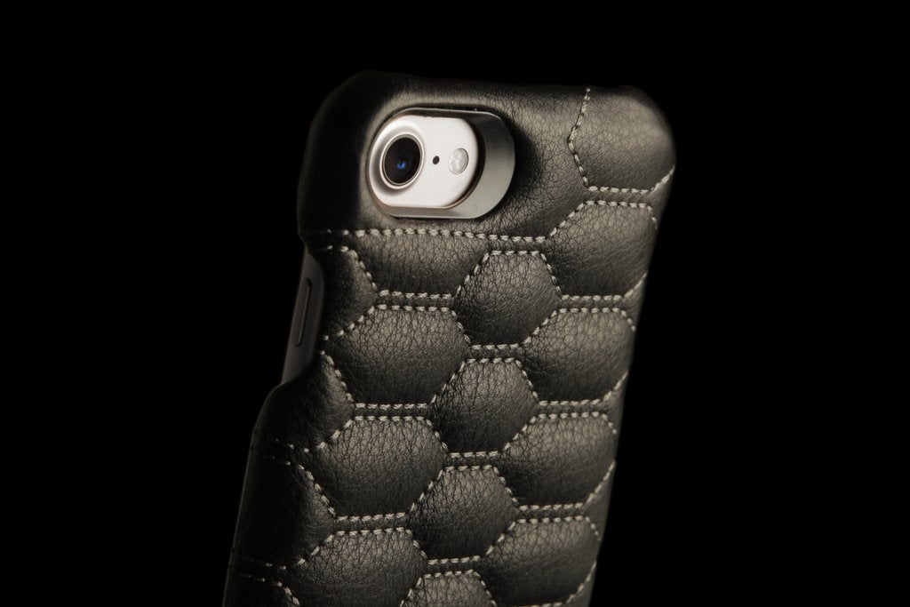 Grip Matelasse for iPhone 8 Leather Cases - Quilted Leather Case