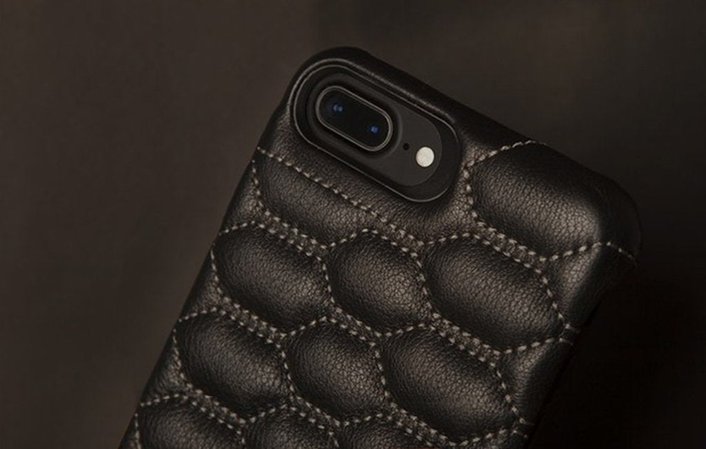 Grip Matelasse iPhone 8 Plus Leather Cases - Quilted Leather Case
