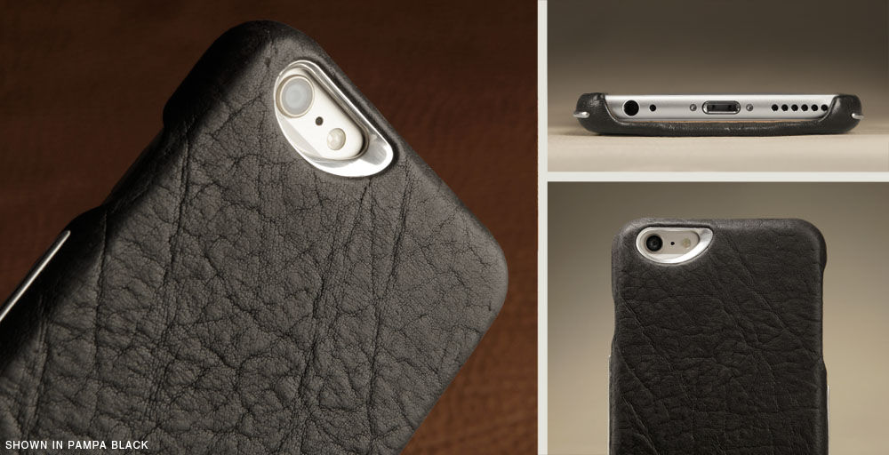 Grip Silver Unique iPhone 6/6s Leather Case