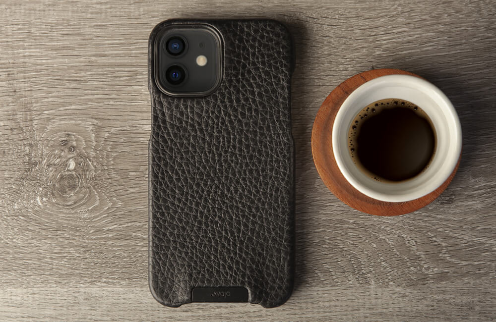 Customizable Grip iPhone 12 leather case