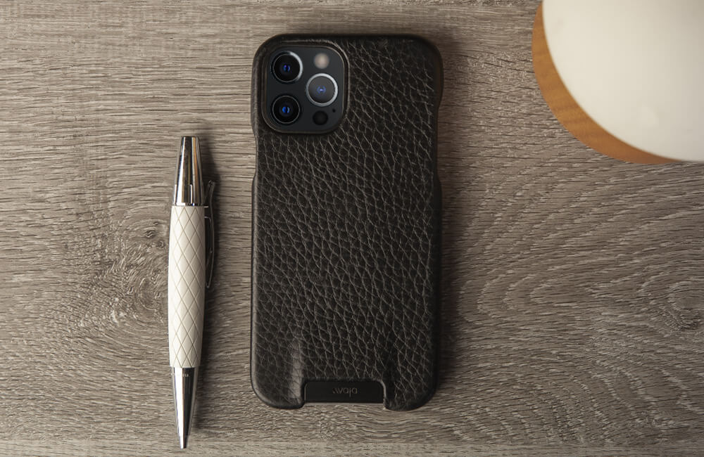 Customizable Grip iPhone 12 pro leather case