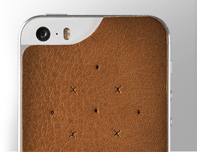 Premium Leather Back Case  for iPhone SE