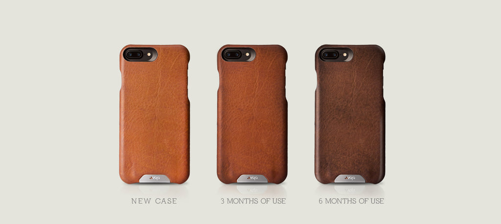 Grip leather case for iPhone 7 plus 6