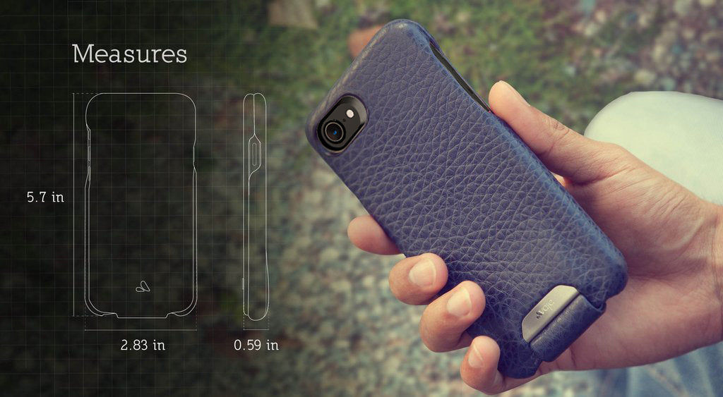 2933fe1407 The Top Flip iPhone 7 Leather Case has a Black framed camera eyelet for  better pictures under lowlight conditions, it is Apple certified – Qi  wireless ...