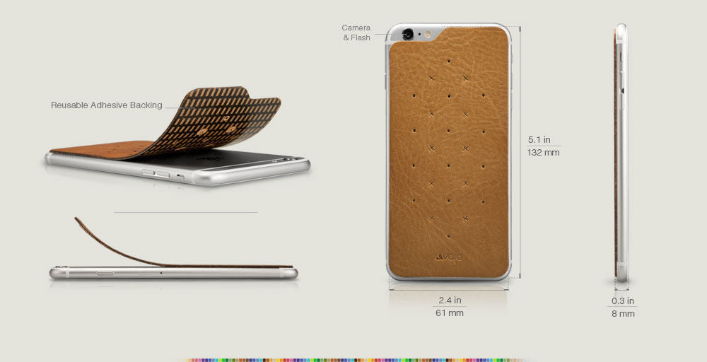 Leather Back for iPhone 6/6s - Vegetable Tanned Leather