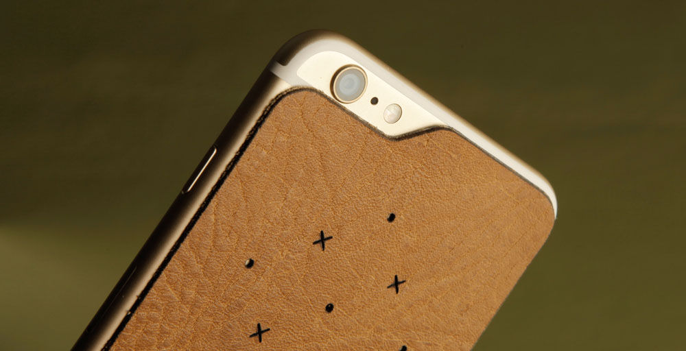 Premium Leather Back for iPhone 6/6s Plus