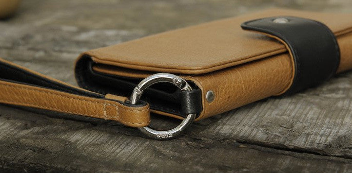 iPhone Leather Wallet Case - Lola