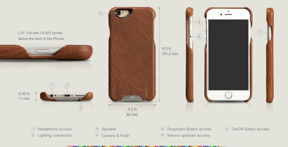 iPhone 6/6s Plus Grip Leather Case