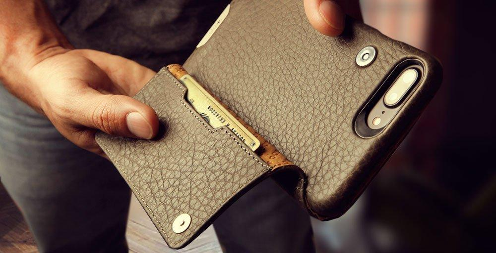 Niko Wallet for iPhone 8 Plus Leather Cases