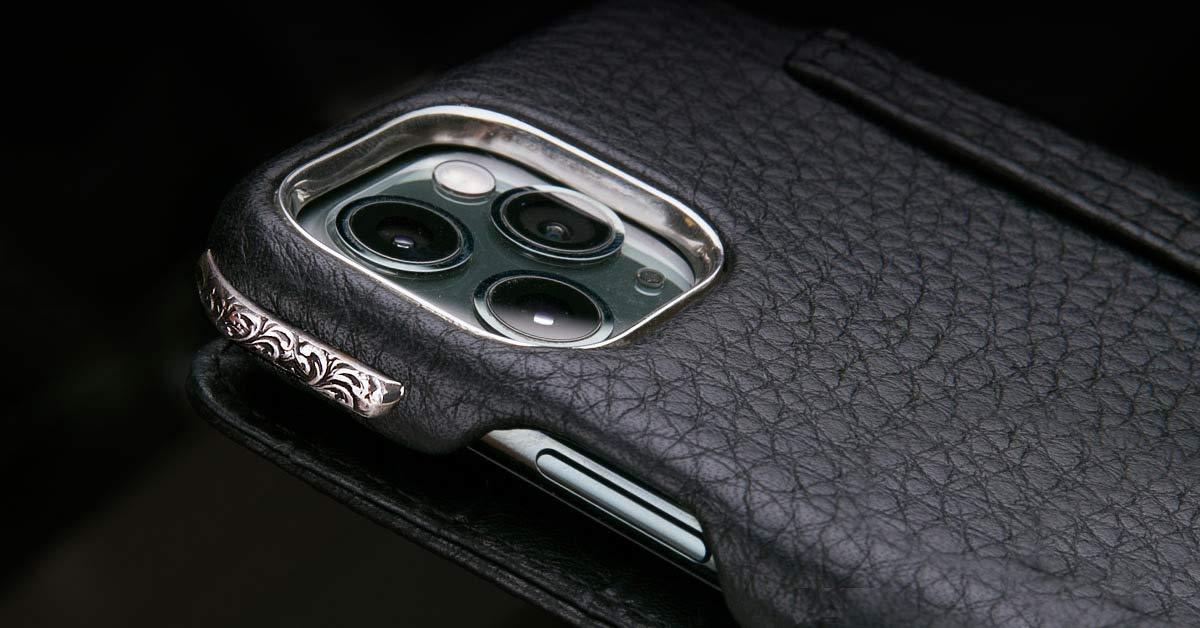 Deluxe Silver Leather iPhone Cases