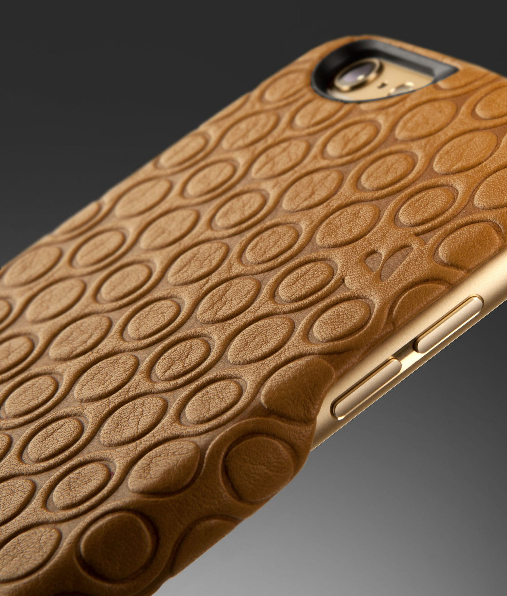 Embossed Grip Leather Case