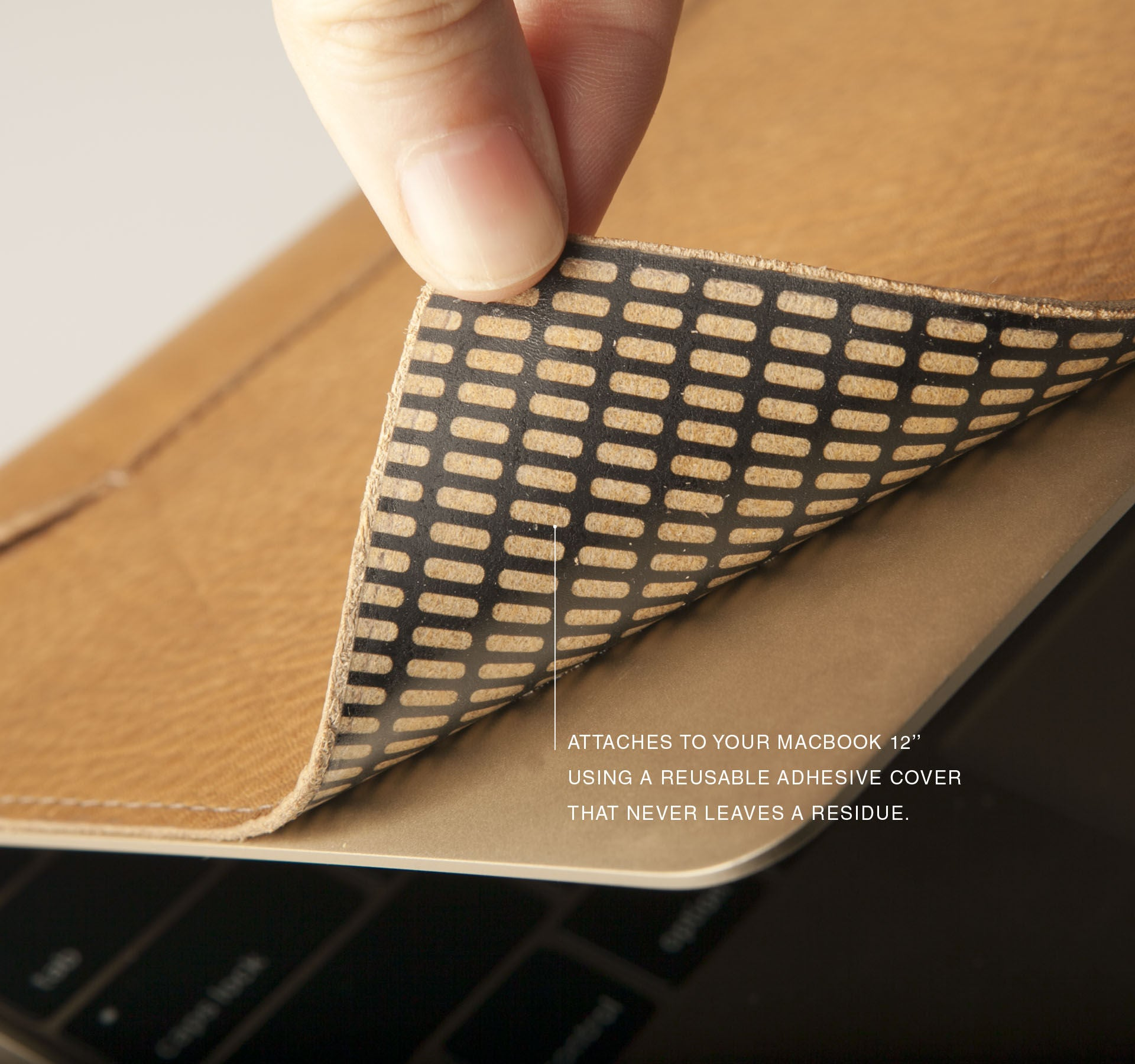 Macbook 12'' Leather Wrap Cover Case