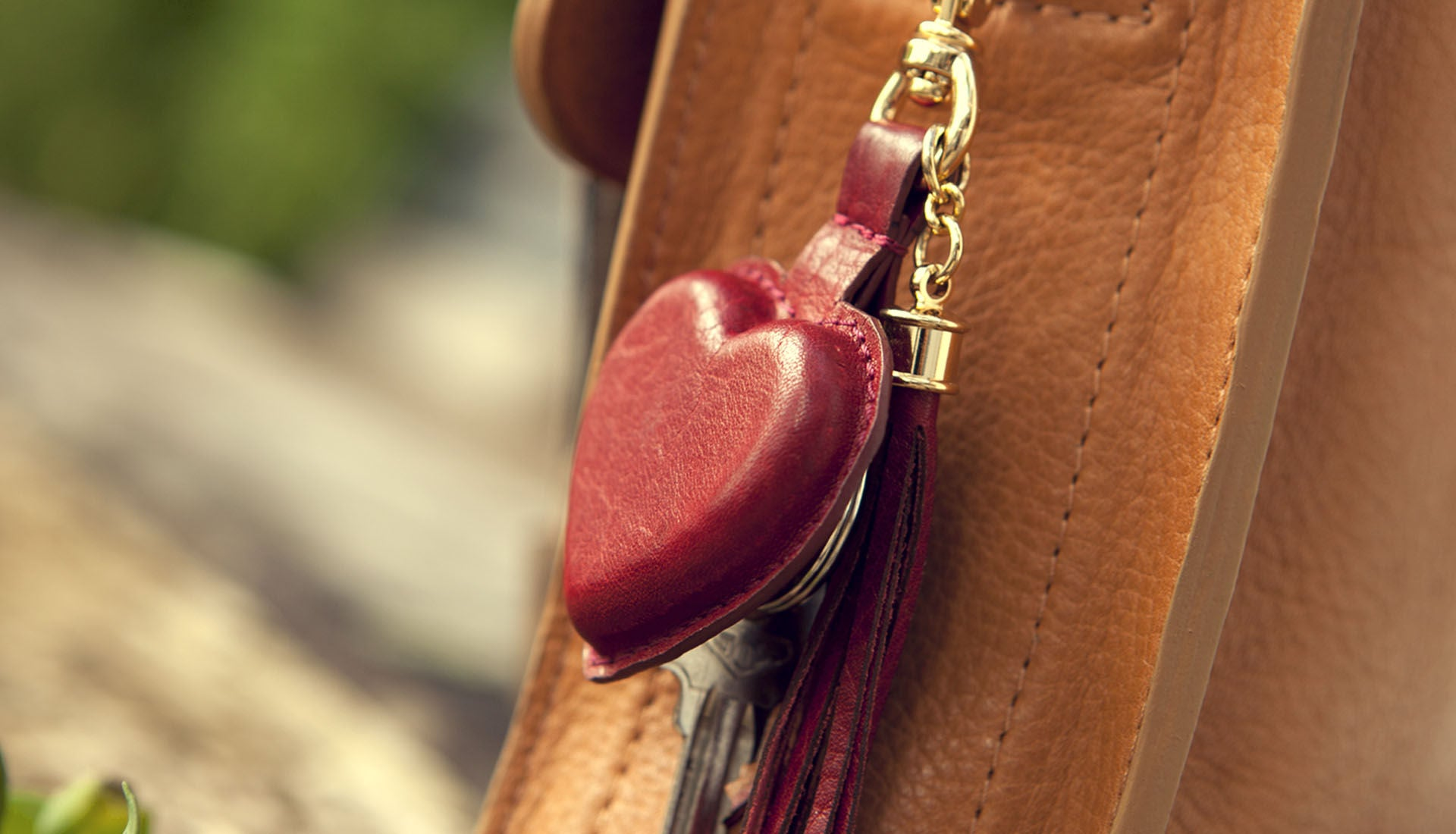 Premium Leather Liz Key Ring