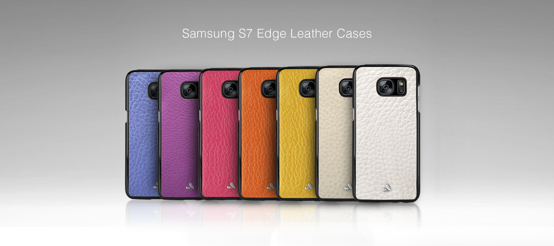 Vaja Samsung S7 Edge Leather Cases