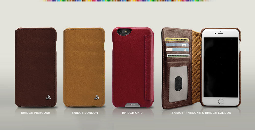 892610b3110 Custom iPhone 6 Plus 6s Plus Leather Wallet Case Natural Leather ...