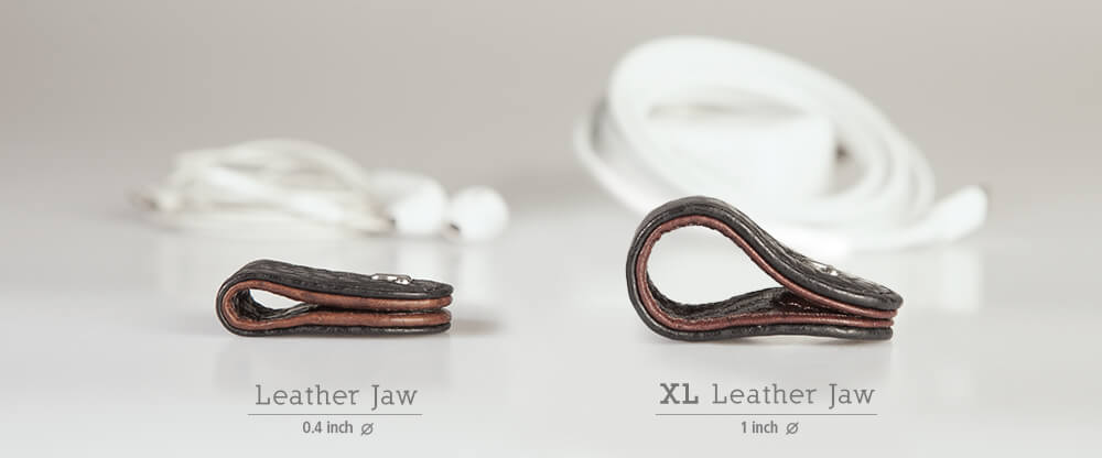 XL Leather Jaws Cable Holder