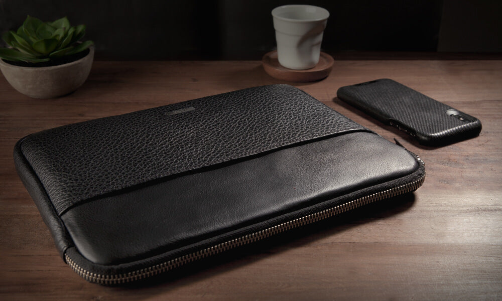 Zippered Leather Sleeve for iPad Pro 12.9