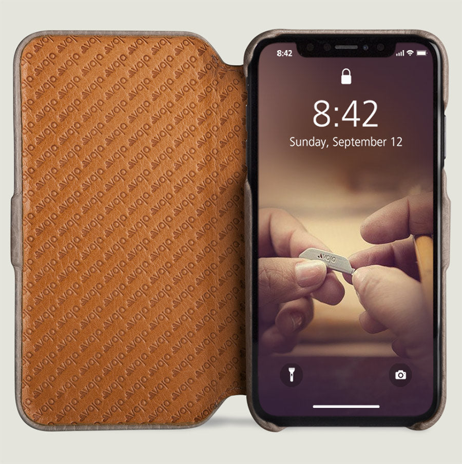 reputable site 05cc6 958a3 Folio - iPhone Xs Max Leather Case