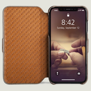 Folio - iPhone Xs Max Leather Case - Vaja