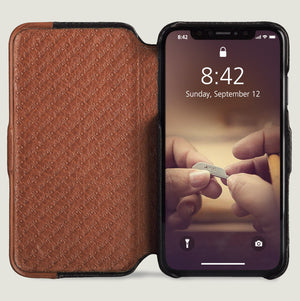Folio LP - iPhone Xs Max Leather Case - Vaja