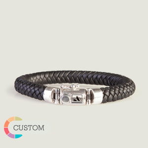 Customizable Bali Braided Leather Bracelet - Ships in 1 Week! - Vaja