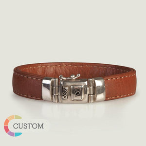 Customizable Belize Leather Bracelet - Ships in 1 Week! - Vaja