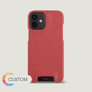 Customizable Grip iPhone 12 Mini Leather Case - Vaja
