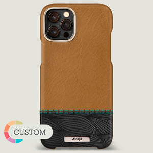 Customizable Grip Duo iPhone 12 Pro Max Leather Case with MagSafe - Vaja