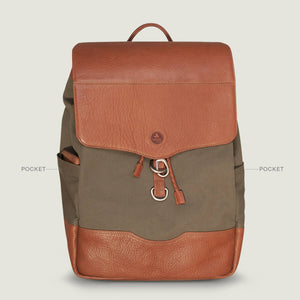 City Hunter – Canvas and Leather Backpack - Vaja