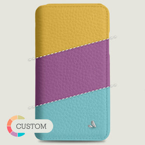 Customizable iPhone 11 Pro Max Wallet leather case - Vaja