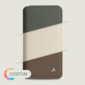 Customizable iPhone 11 Pro Wallet leather case - Vaja