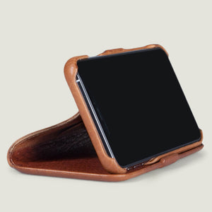 Folio Wallet Stand iPhone Xs Max Leather Case - Vaja