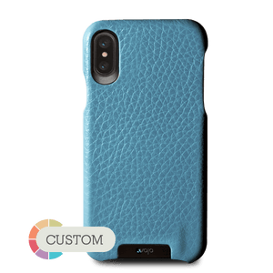 Custom Grip iPhone X Leather Case - Vajacases