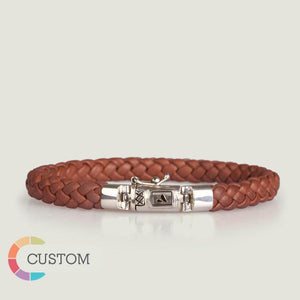 Customizable Porto Braided Leather Bracelet - Ships in 1 Week! - Vaja