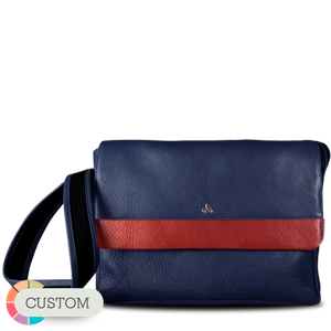"Custom Messenger Leather Bag for Macbook 13"" - Vajacases"