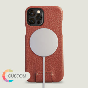 Customizable Top iPhone 12 & 12 Pro leather case with MagSafe - Vaja