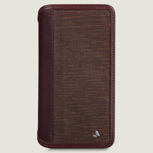 Wallet Wood iPhone Xs Max Leather Case - Vaja