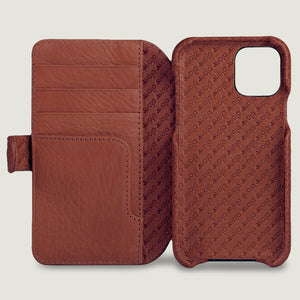 iPhone 11 Wallet leather case with magnetic closure - Vaja