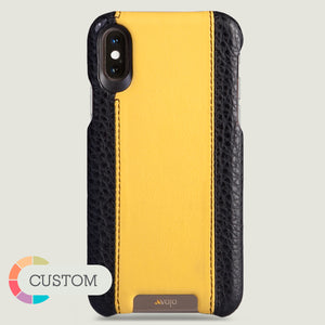 Custom Grip GT iPhone X / iPhone Xs Leather Case - Vaja