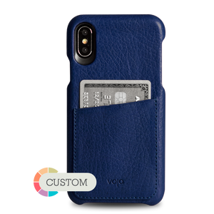 Custom Grip ID iPhone X / iPhone Xs Leather Case - Vajacases