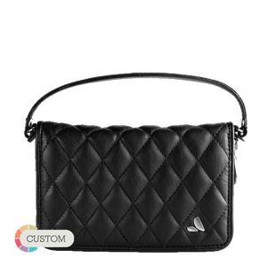Customizable Lucy Clutch Matelassé - Premium Leather Smartphone Clutch - Vaja
