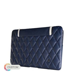 "Matelassé - MacBook Air 11"" Quilted Leather Case - Vaja"