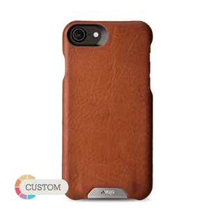 Customizable Grip - iPhone 8/SE Leather case - Vaja